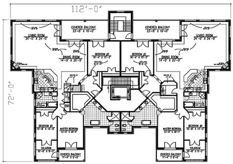 stately house plans stately apartment house plan 90155pd architectural