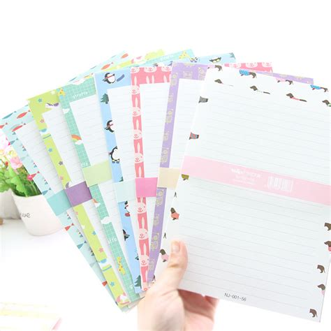 writing paper and envelope sets 2 sets lot 1 set 3 envelopes 6 writing papers creative