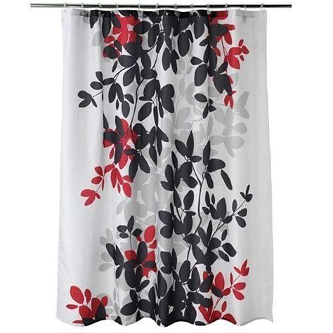 red and gray shower curtain apt 9 zen leaf shower curtain black red grey 72 x