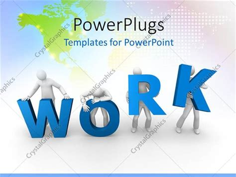 templates powerpoint work powerpoint template a team of people trying to hold the