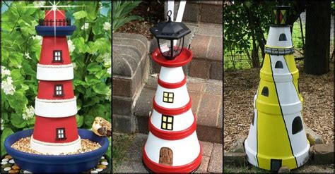 Decorative Lighthouses For In Home Use by Diy Clay Pot Lighthouse Garden Decor Diy Recycled
