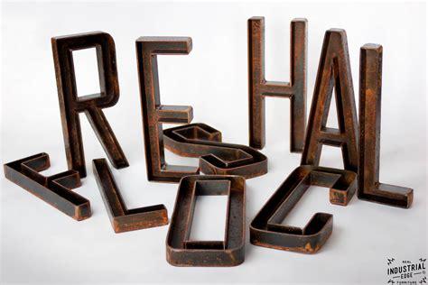 Custom Metal Letter Custom Metal Letters 12 Inch Real Industrial Edge Furniture Custom Industrial Vintage