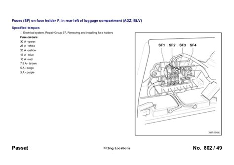 service manuals schematics 1986 volkswagen passat parking system vw passat b6 3c 2005 fuses overview