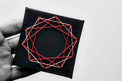 String Geometric Patterns - diy geometric string cards