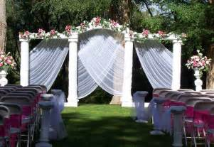 Outside Decorations by Outdoor Wedding Decorations For Your Inspiration