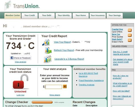 Credit Report Format Transunion Transunion Overstates Your Credit Score On The Report You Pay For Rumination Station