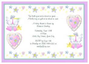 baby shower messages baby shower thank you wording sles notes ideas baby