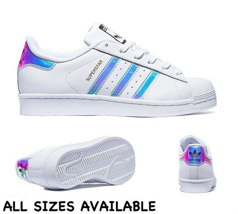 adidas superstar gs 2016 white metal silver all sizes uk 3 4 5 6 limited crep ebay