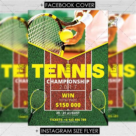 Tennis Tournament Flyer Templates