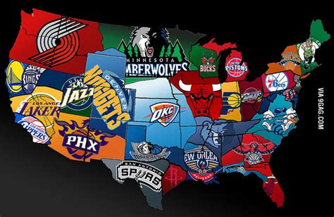 nba map nba map of america 9gag