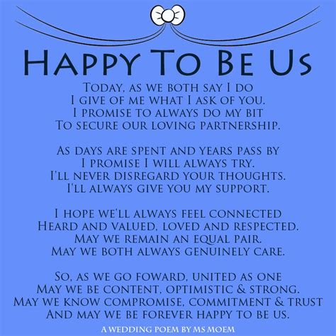 Wedding Vows Poetry by Happy To Be Us A Modern Wedding Vows Poem By