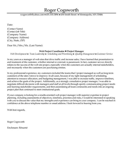 manager cover letter best 25 project manager cover letter ideas on