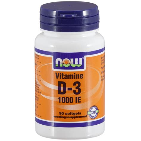 koop vitamine d 3 1000 ie 90 softgels now foods
