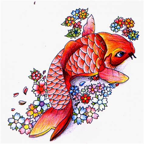 colorful koi fish tattoo designs koi fish tattoos