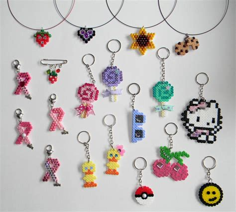 bead keychain patterns hama perler necklaces and keychains by jadedragonne