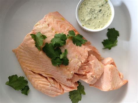 poached salmon poached salmon with cilantro sauce the mom 100 the mom 100