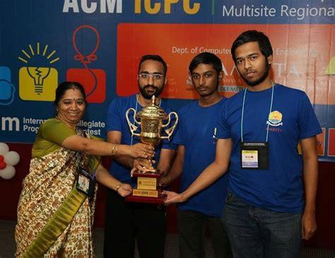amrita vishwa vidyapeetham hosts semi finals  acm icpc worlds toughest programming contest