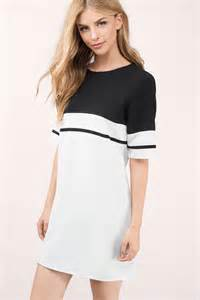 Casual dresses tobi black amp ivory stripe me shift dress