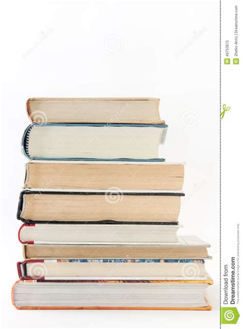 with a view books side view of a pile of books stock photo image 49753875