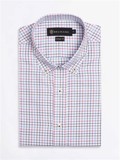 multi color shirt multi color gingham check shirt brumano