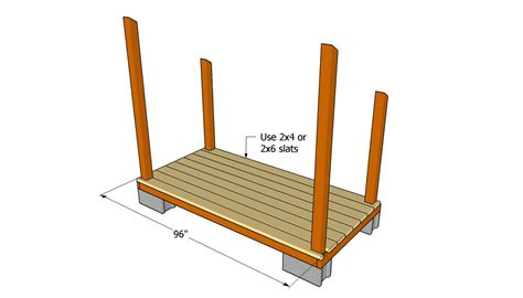 attaching  floor slats diy shed wooden playhouse