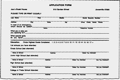 Resume Form by Blank Resume Forms To Fill Out Free Resume Templates