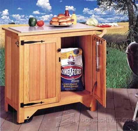barbecue cart plans woodarchivist