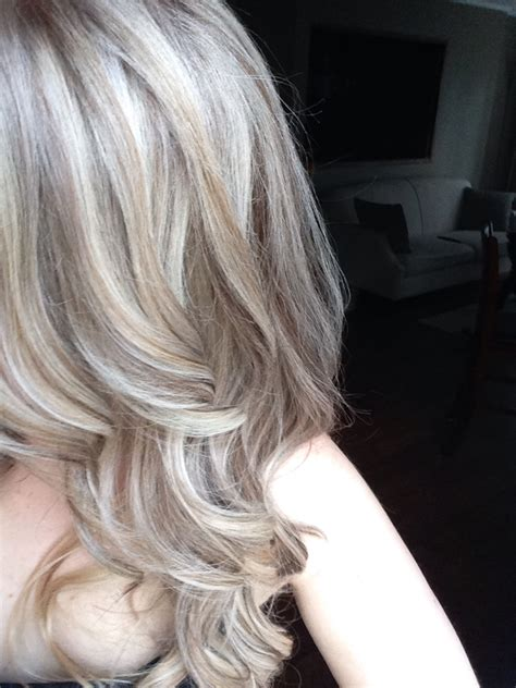 med hair woth gray n blonde medium ash blonde with platinum baby highlights pinteres