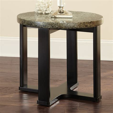 Granite End Table by Steve Silver Company Gabriel Granite Top End Table Atg