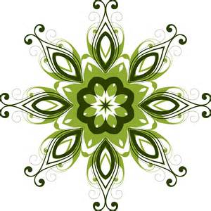 clipart flourish flower design 12