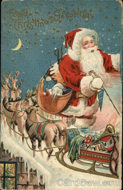 rooftop santa sleigh with reindeer santa with sleigh and reindeer on rooftop santa claus