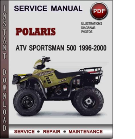 polaris atv sportsman 500 1996 2000 factory service repair