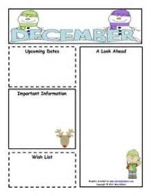 monthly preschool newsletter template 1000 images about preschool lesson plans and newsletter
