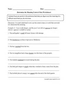 context clues multiple choice worksheets 4th grade
