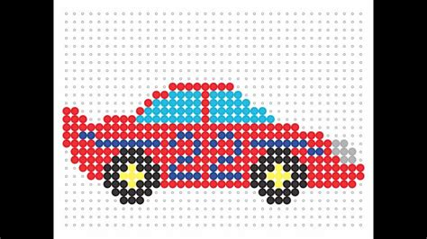 bead car hama bead race car transport series 15
