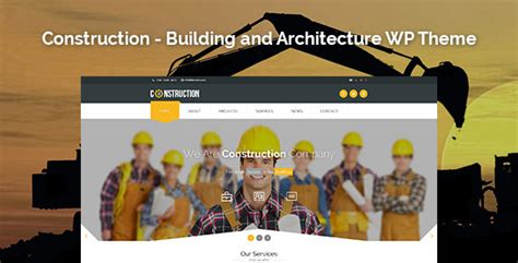 themeforest construction template construction building and architecture wp theme