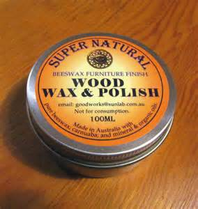 furniture wax with beeswax and carnuaba timber wood
