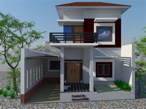 gambar rumah sederhana minimalis 2 lantai