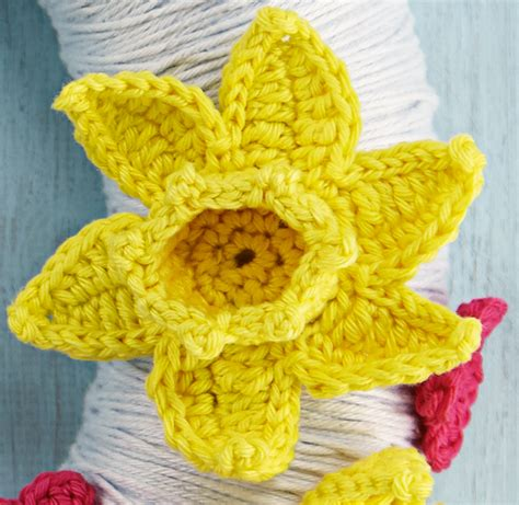 pattern crochet daffodil free patterns archives simply crochet