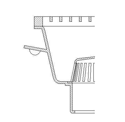floor drain section building rfa drain detail component