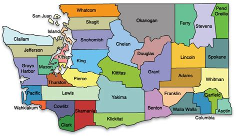 map of washington counties washington state map