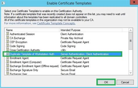 workstation authentication certificate template policy archives