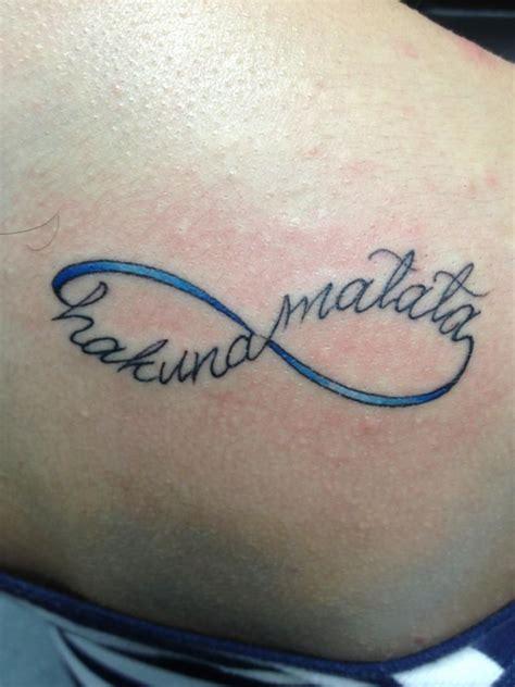 Infinity Tattoo Hakuna Matata | hakuna matata tattoos designs ideas and meaning tattoos