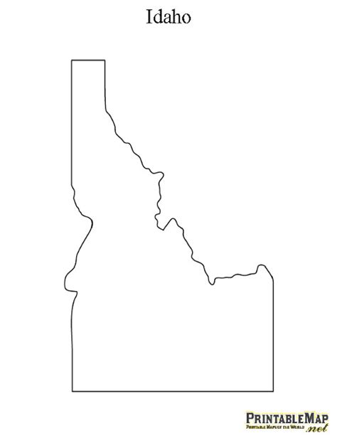 printable map idaho printable map of idaho state map of idaho