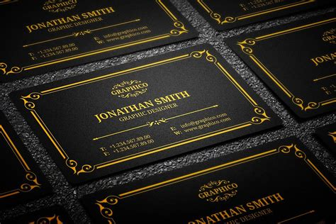 Black And Gold Business Card Templates Free by 25 Black And Gold Business Card Templates
