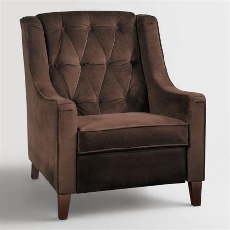 chocolate victoria velvet tufted high  chair world market
