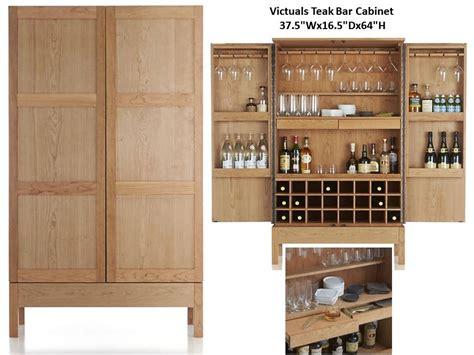 Victuals Bar Cabinet Victuals Teak Bar Cabinet Costa Furniture