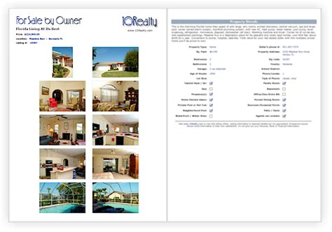 real estate listing sheet template free fsbo flyer template free real estate flyer template