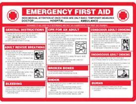 printable sorry instructions amazon com plastic emergency first aid instructions sign