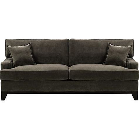 charcoal couch drew charcoal faux suede sofa